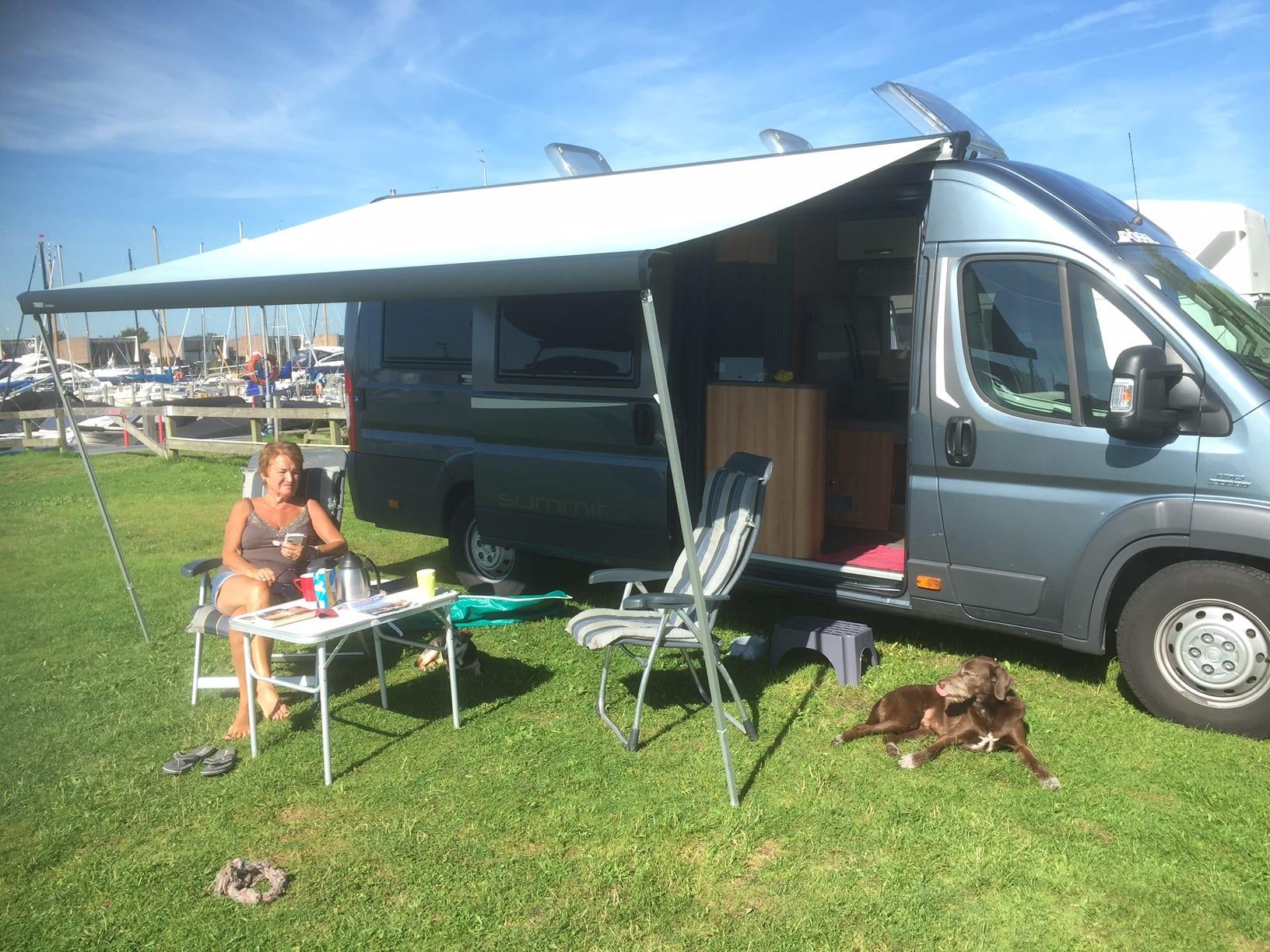 camper huren met hond